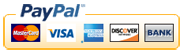 We accept VISA MasterCard PayPal